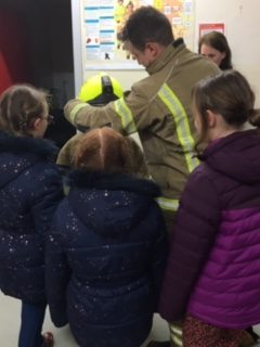 Falcons Cubs Learn Fire Safety